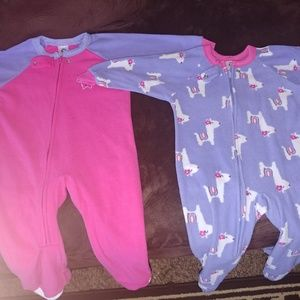 Barely worn 18 month Toddler Girl Flannel Onesies